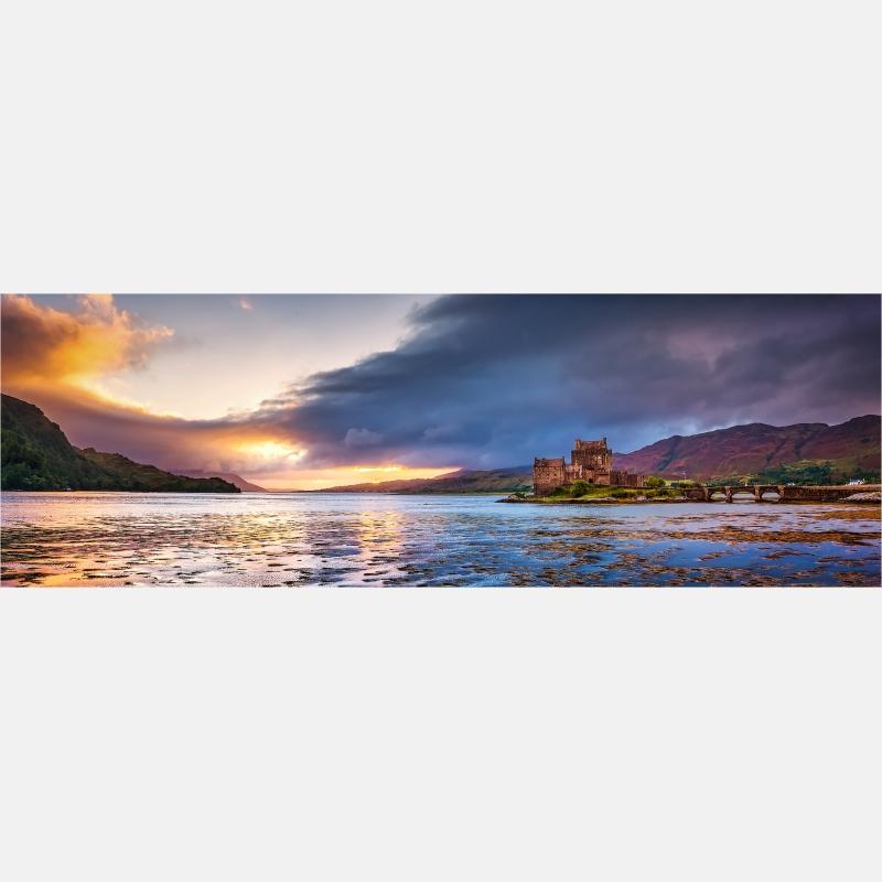 Panoramabild Eilean Donan Castle Schottland Loch Duich