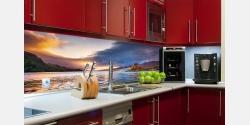 Wohnbeispiel Küchenrückwand auf Echtglas
