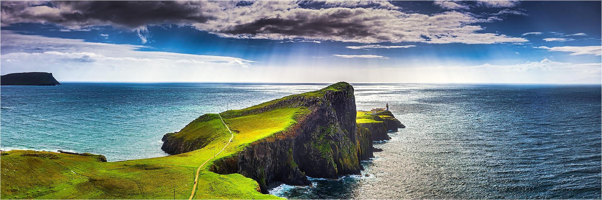 Panoramabild Nest Point Isle of Skye Schottland