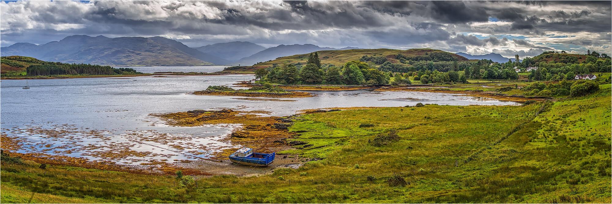Panoramabild Landschaft Isle of Skye Schottland