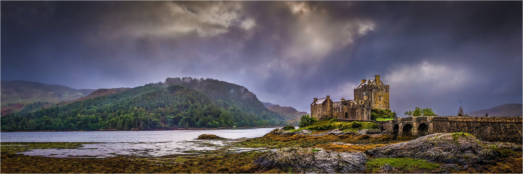 Panoramabild Eilean Donan Castle Highlands Schottland