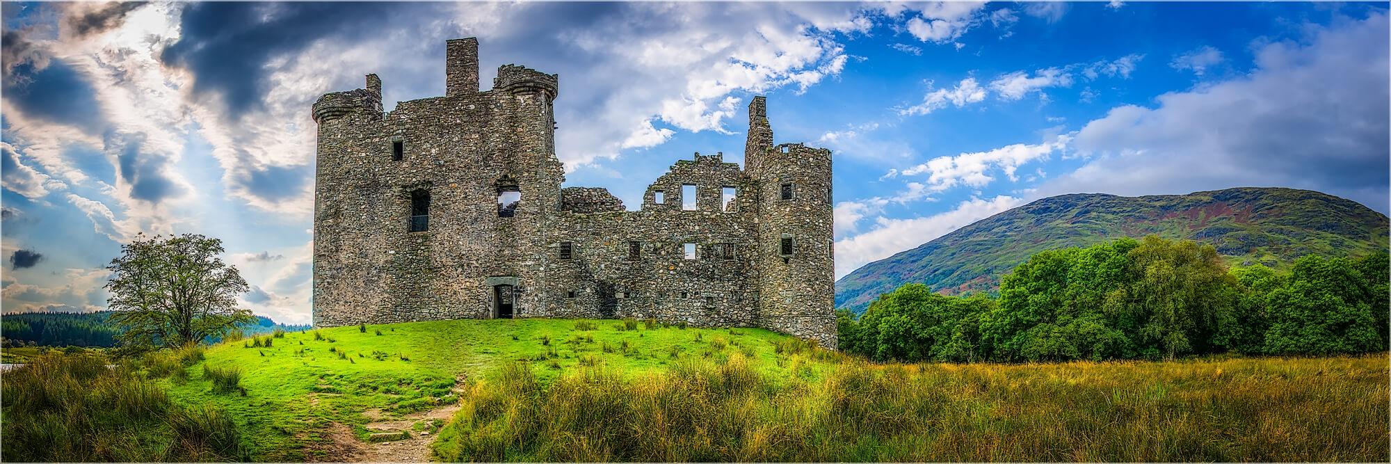 Panoramafoto Schottland Kilchurn Castle Loch Awe
