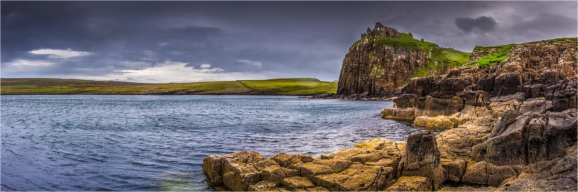 Panoramabild Schottland Duntulm Castle Isle of Skye