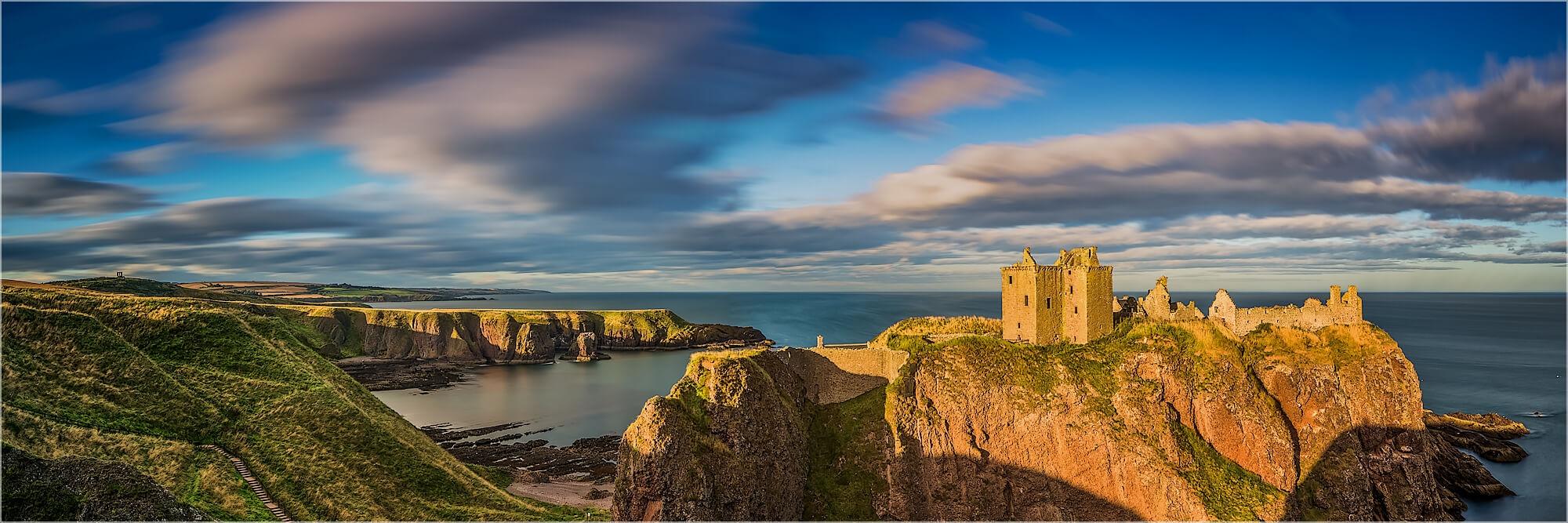 Panoramafoto Dunnottar Castle Stonehaven Schottland