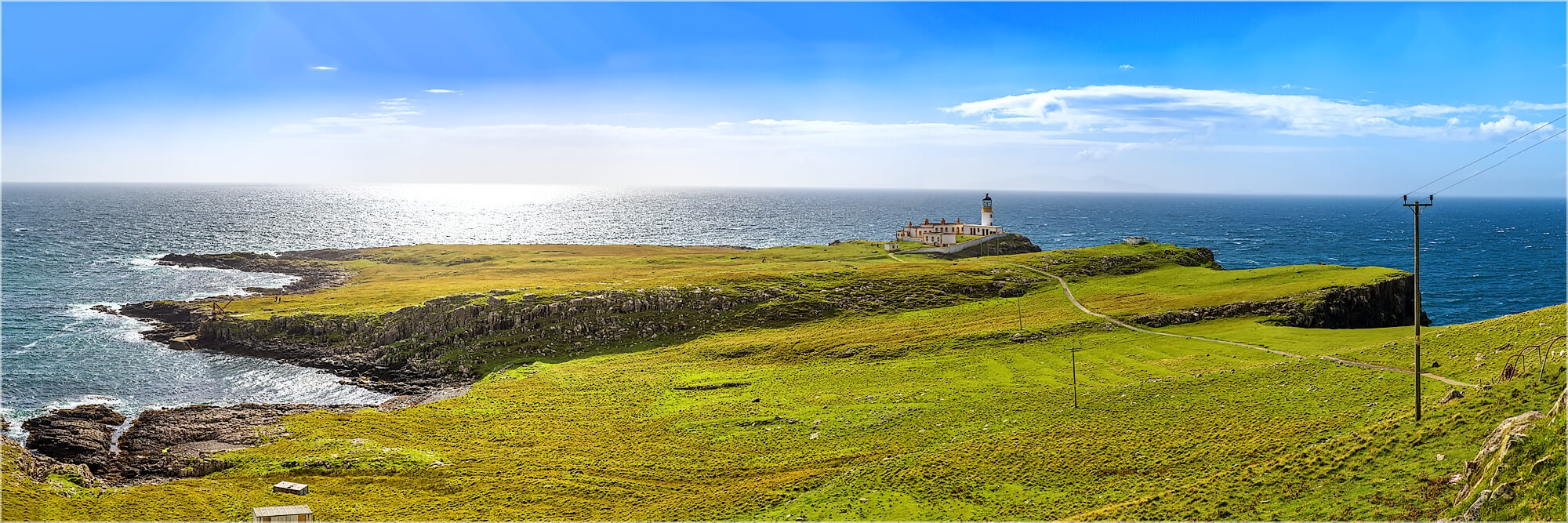 Panoramafoto Schottland Isle of Skye am Nest Point