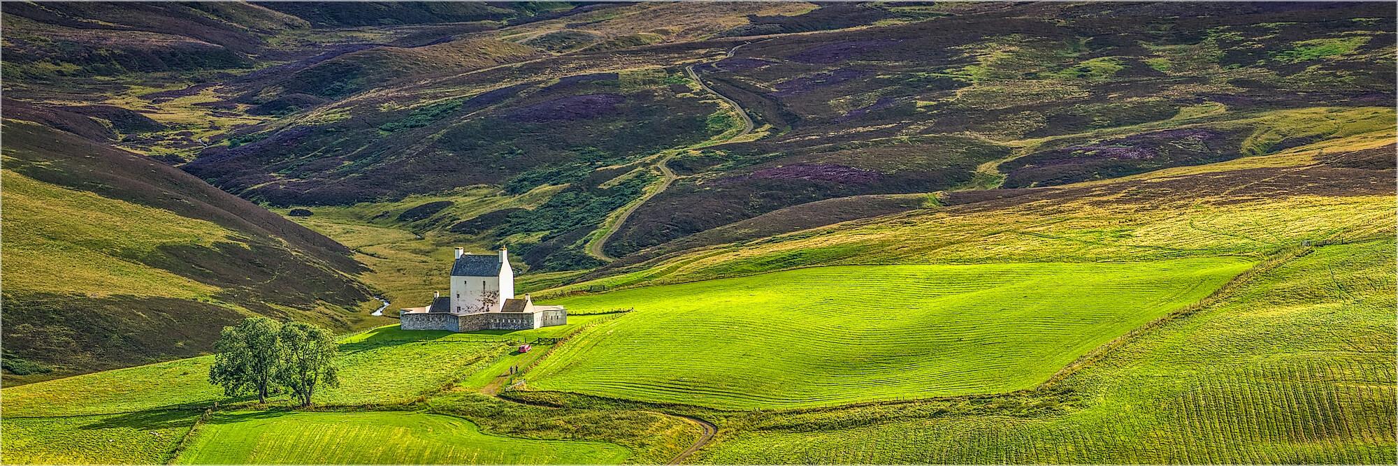 Panoramafoto Schottland Corgarff Castle Aberdeenshire