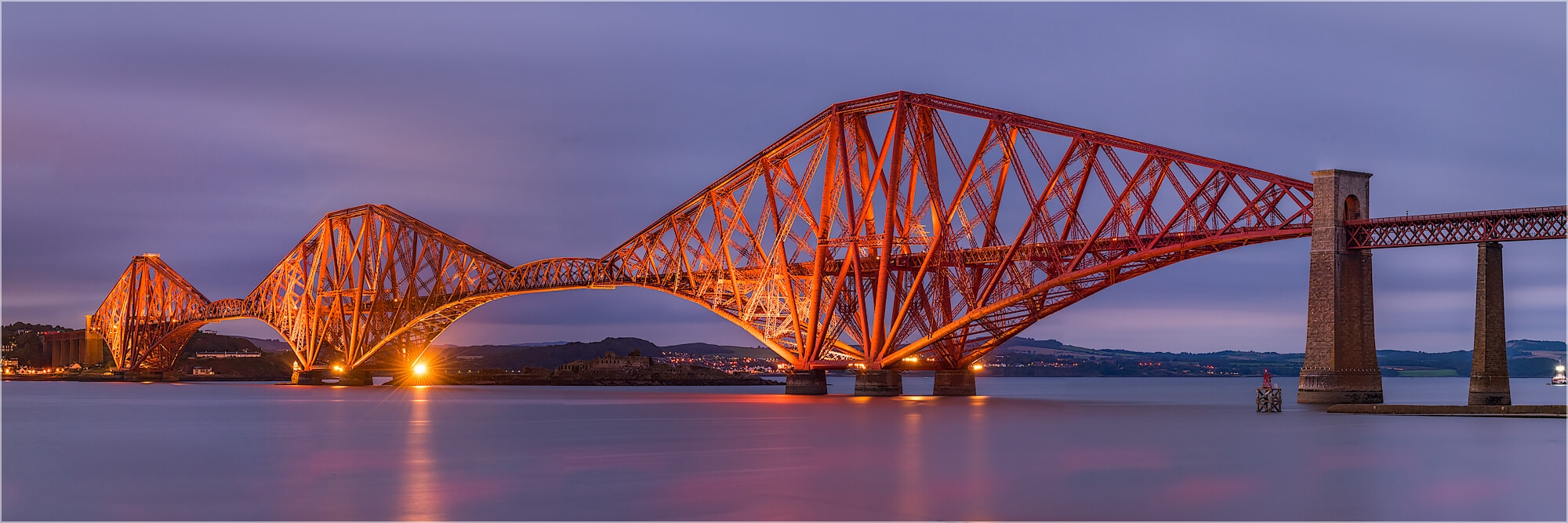 Panoramabild Edinburg Firth of Forth Railway Bridge