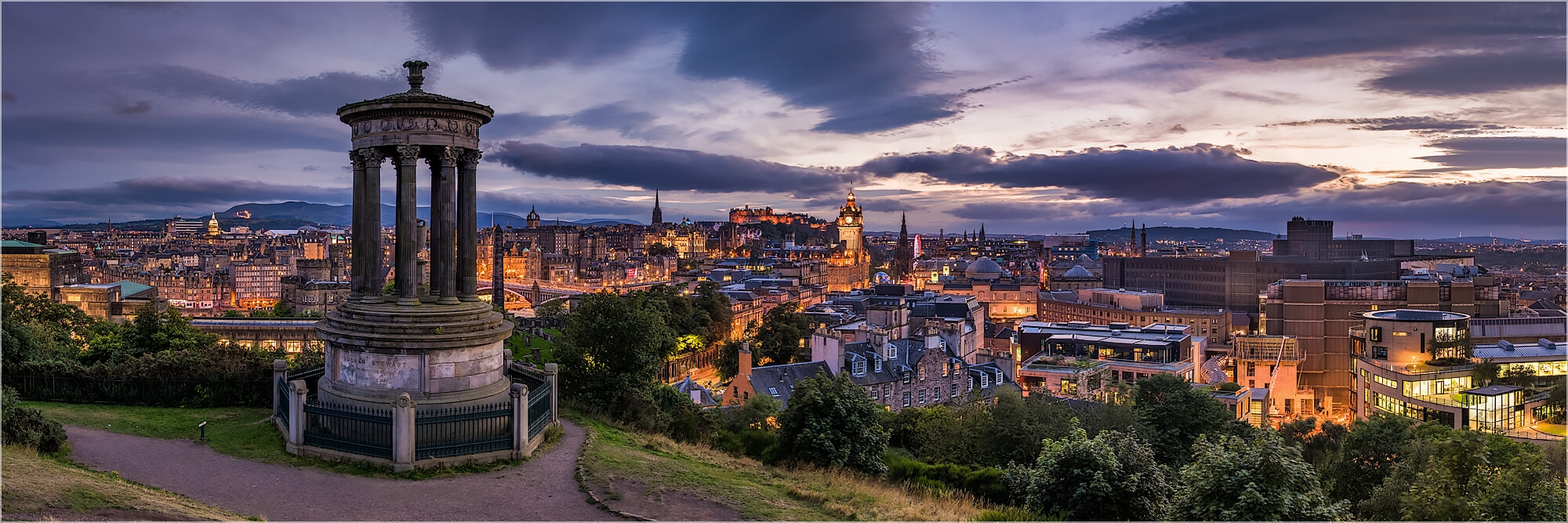 Panoramafoto Calton Hill Edinburgh Schottland