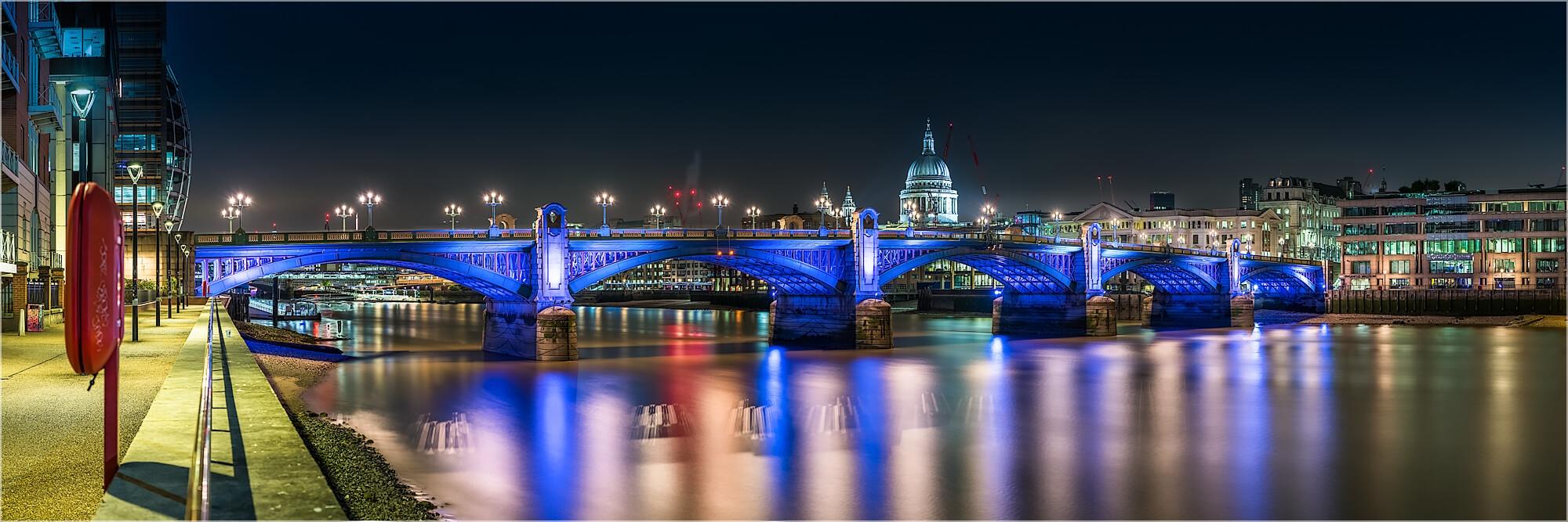 Panoramabild London Southwalk Bridge St. Pauls Cathedral