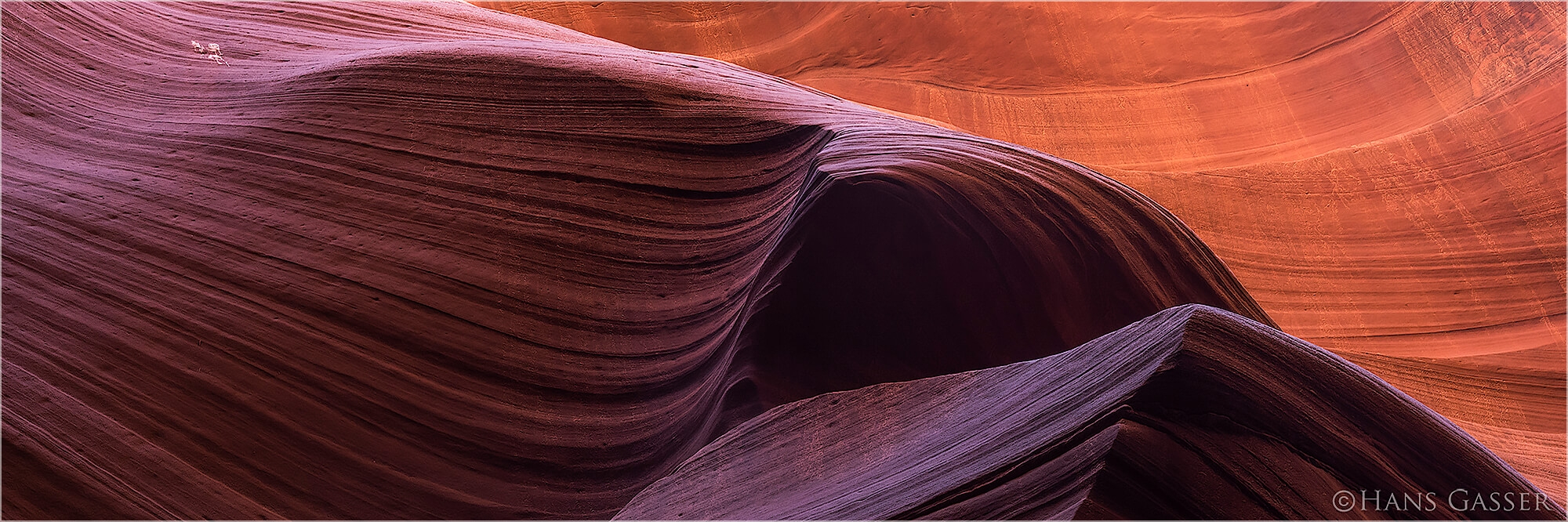 Panoramafoto Lower Antelope Canyon Arizona USA