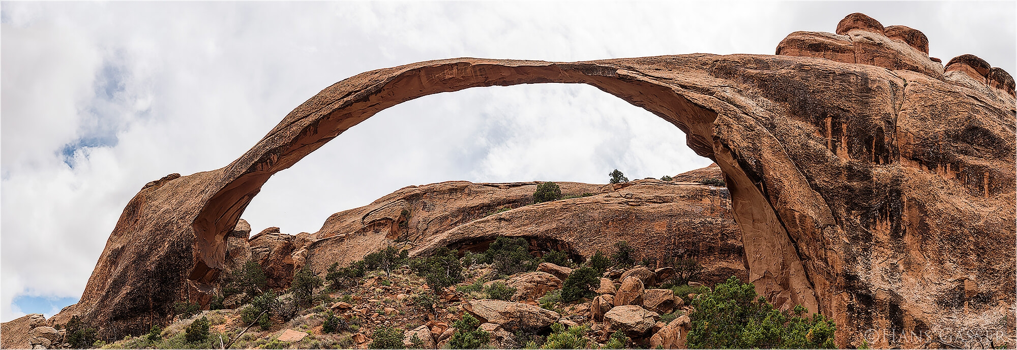 Panoramabild Stone Arch im National Park Utah USA