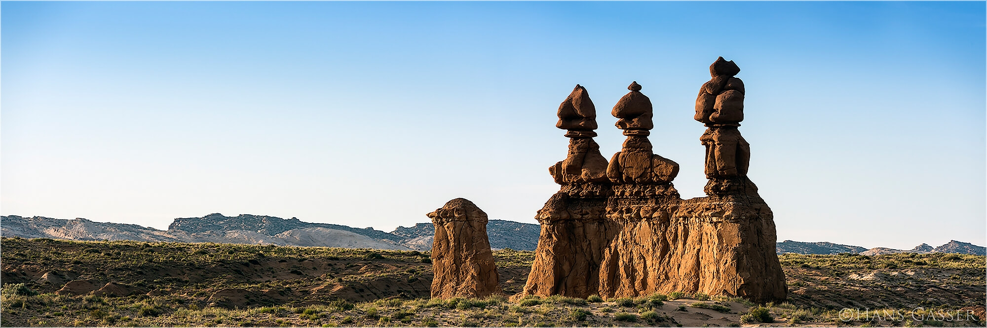 Panoramafoto Sandstein Figuren Goblin Valley Utah USA