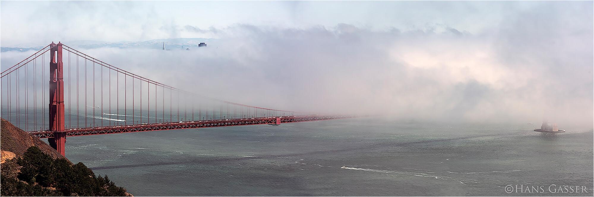 Panoramabild Golden Gate Bridge San Francisco USA