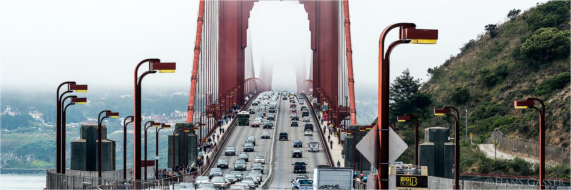 Panoramabild Traffic Golden Gate Bridge San Francisco