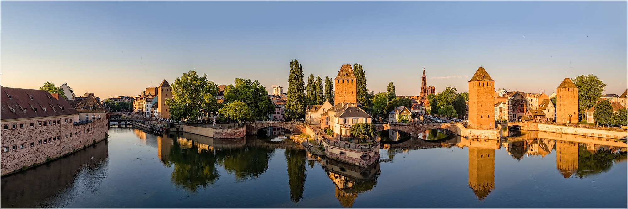 Panoramabild Petit France Frankreich Straßburg