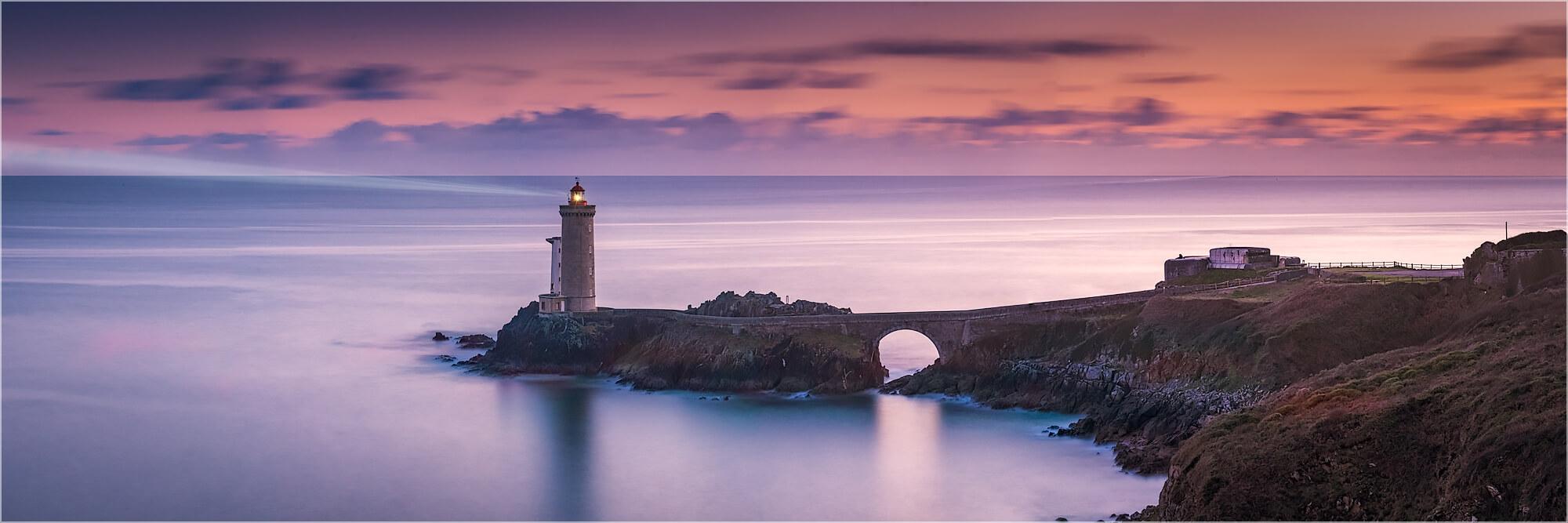 Panoramafoto Leuchtturm Phare Petit Minou Bretagne
