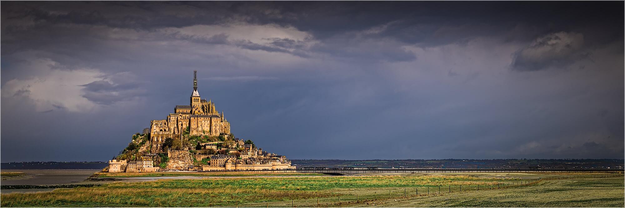 Panoramabild Normandie Saint Michel Klosterberg Frankreich