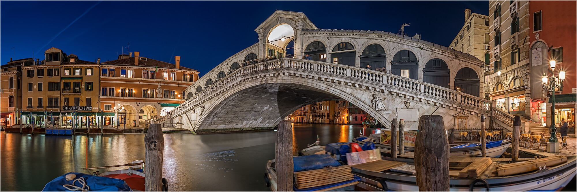 Panoramafoto Rialto Brücke Venedig Italien