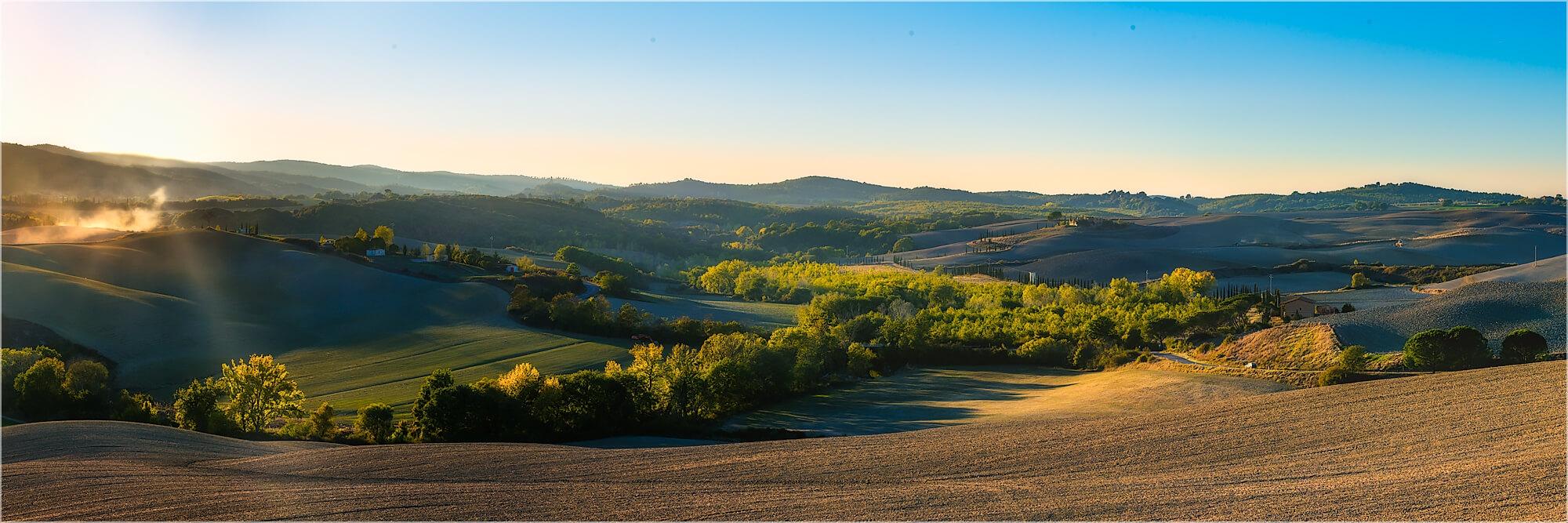 Panoramabild Landschaft der Toskana Italien