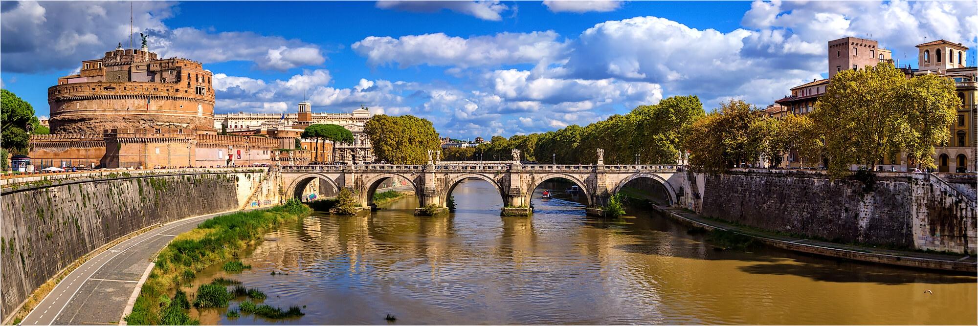 Panoramafoto Rom Italien Blick zur Engelsburg