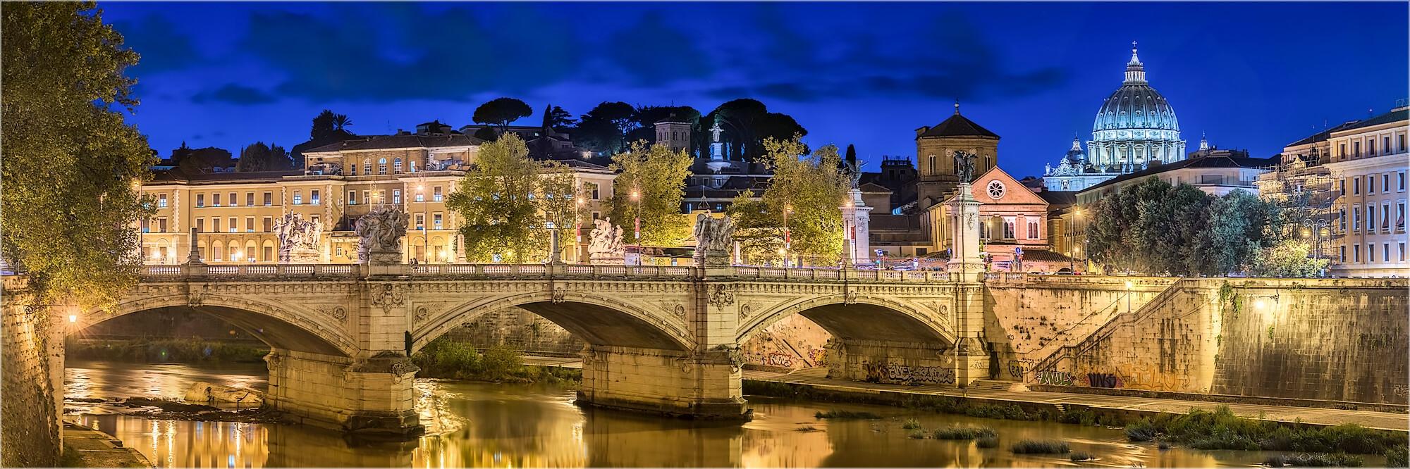 Panoramabild Rom Italien Blick über den Tiber