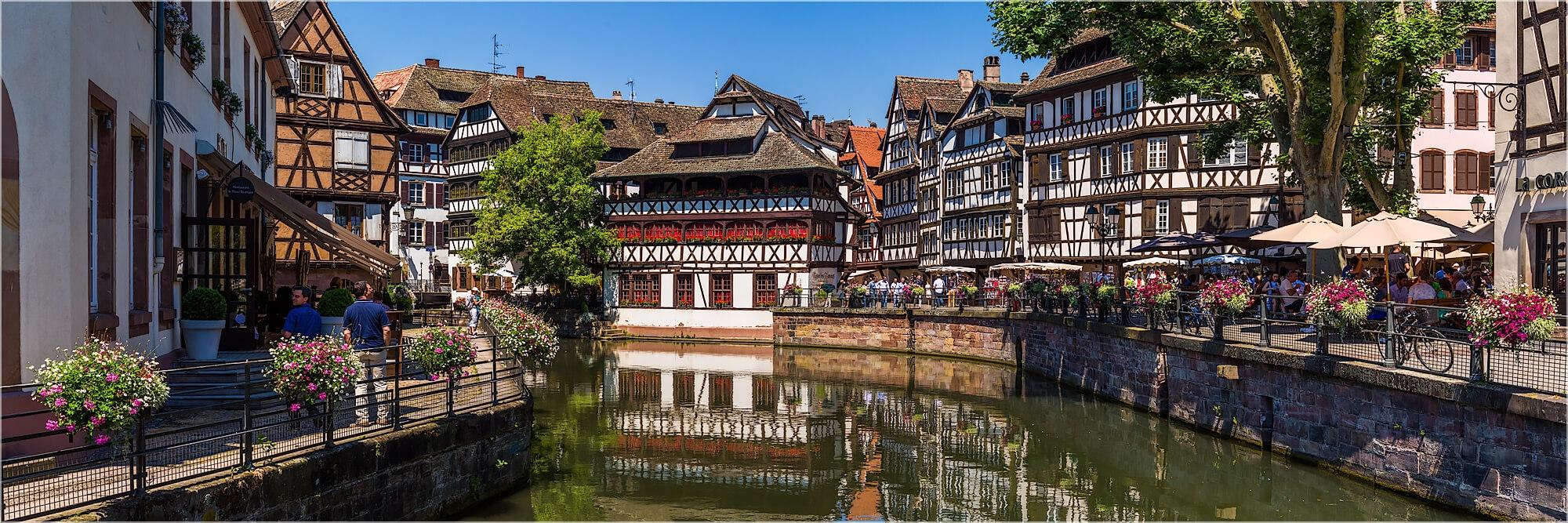 Panoramabild Straßburg Fachwerkhäuser Petit France