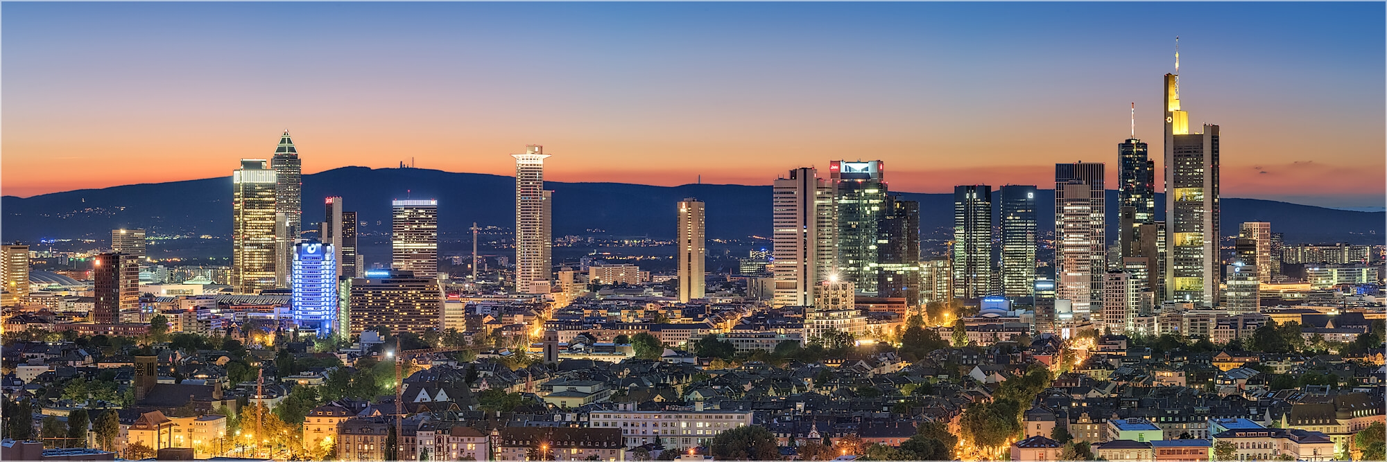 Panoramabild Skyline von Frankfurt/Main
