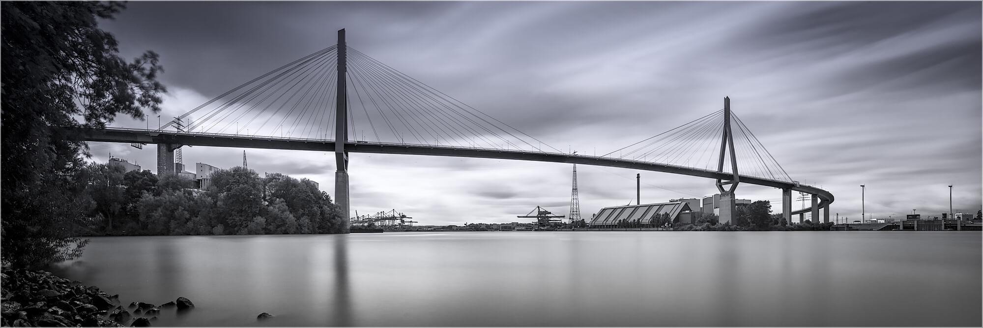 Panoramabild Hamburger Köhlbrandbrücke