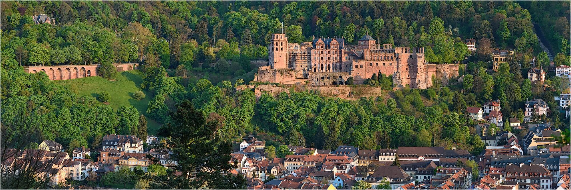 Panoramabild Heidelberger Schloß Heidelberg