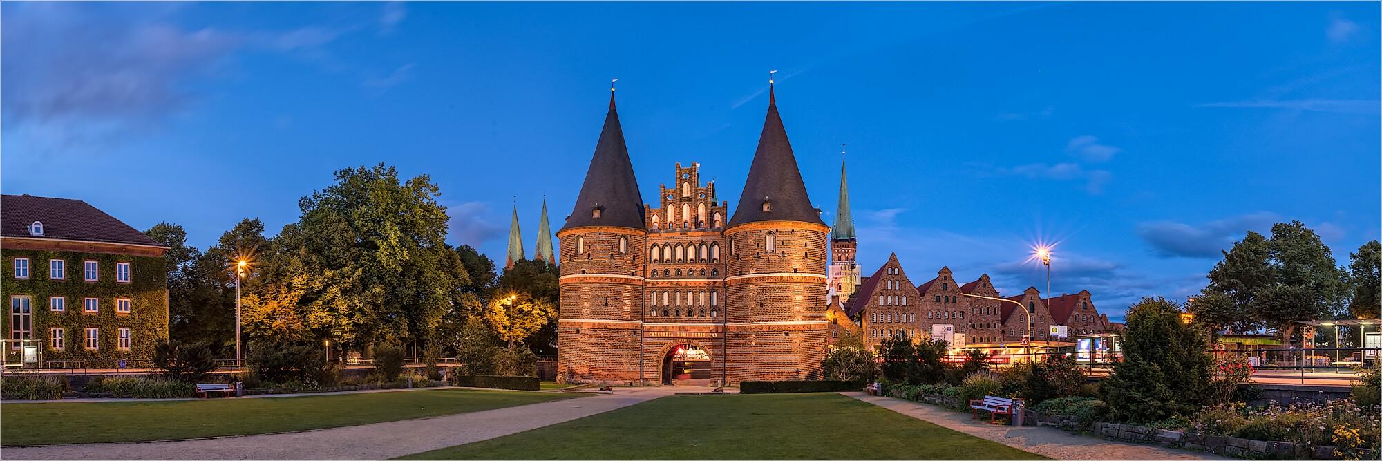 Panoramabild Lübeck Lübecker Holstentor