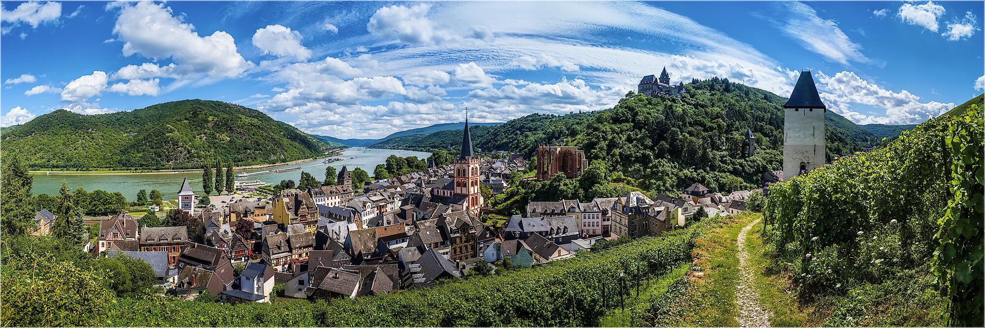 Panoramafoto Bacharach am Rhein