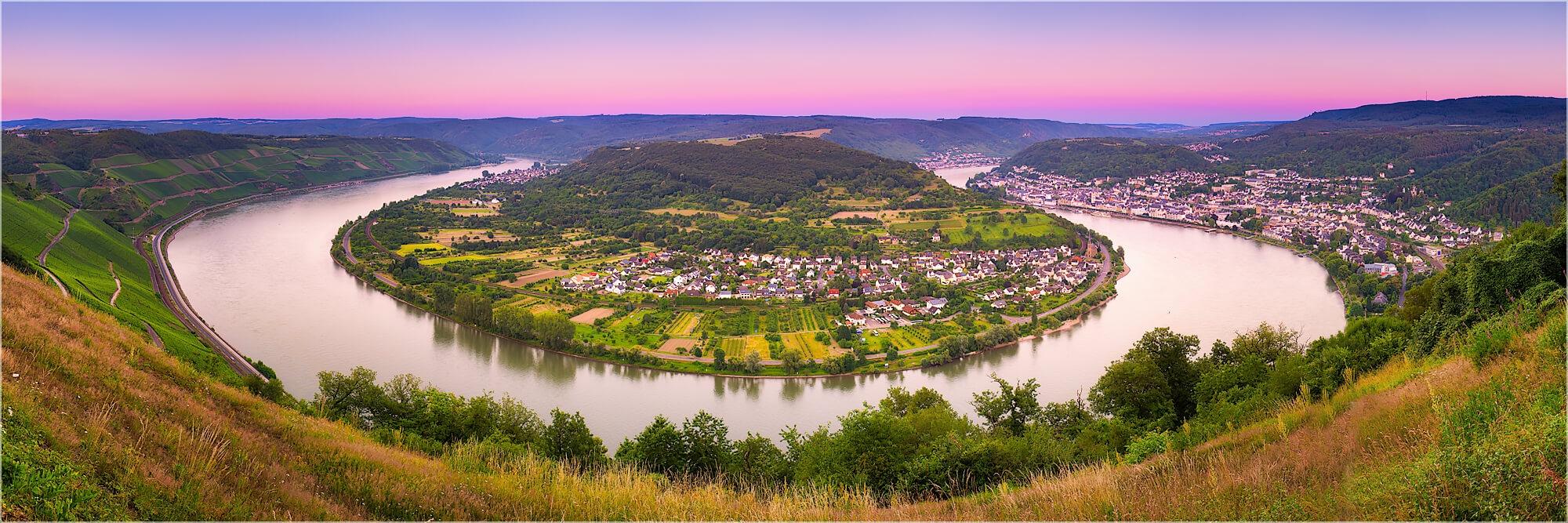 Panoramafoto Rheinschleife bei Boppard