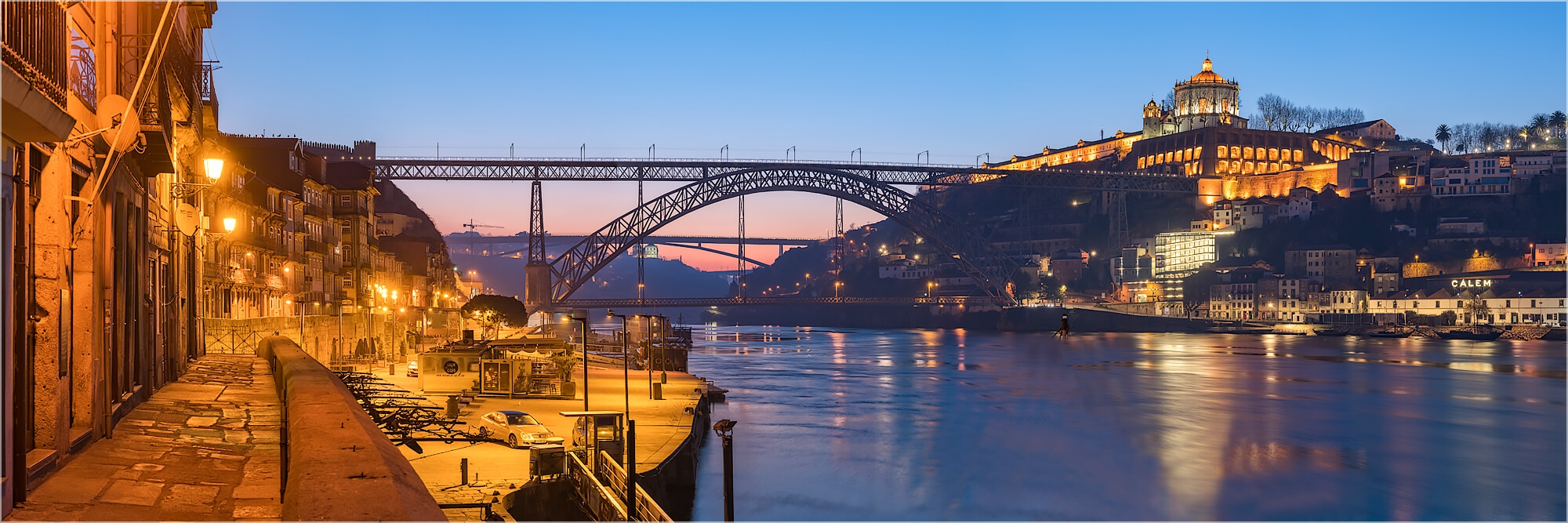 Panoramafoto Dom Luis Brücke Porto Portugal