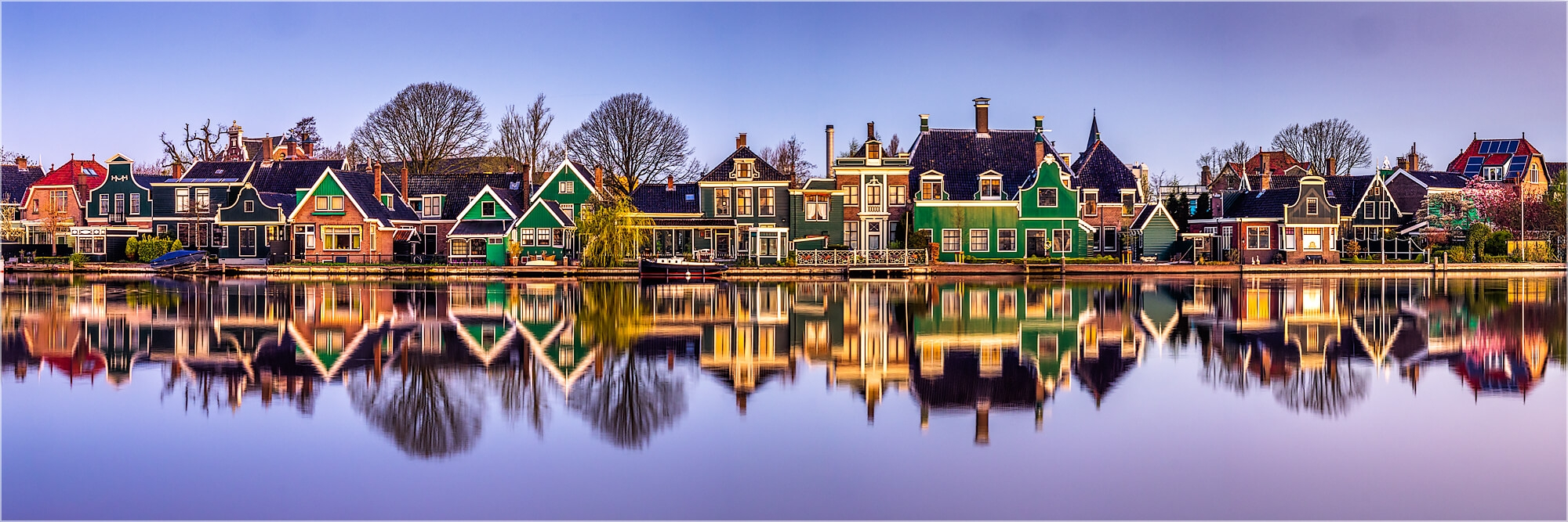 Panoramabild Häuserzeile Zaandam Holland