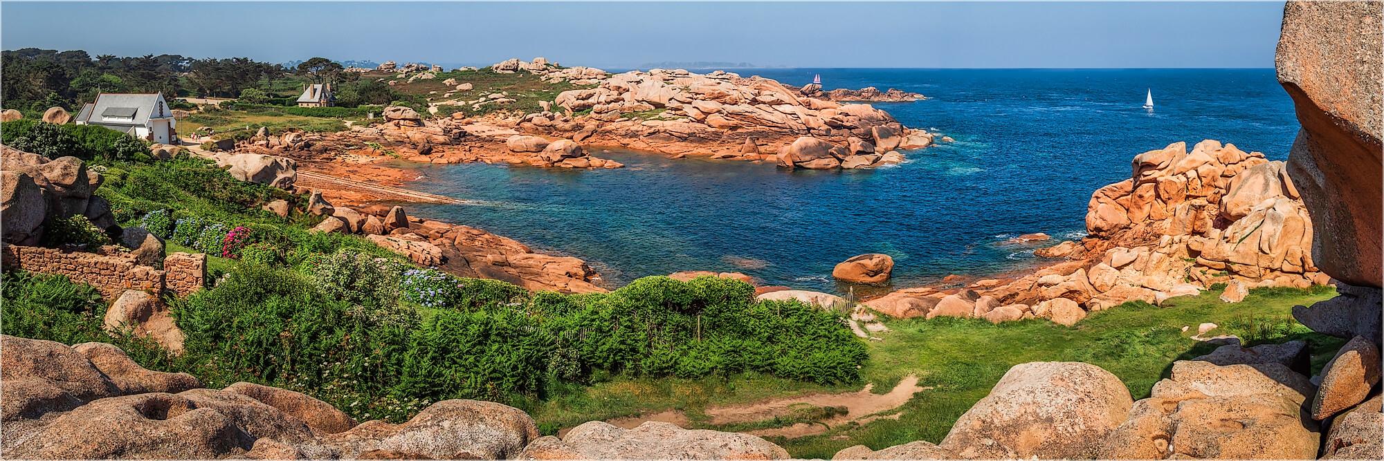 Panoramabild Frankreich Bretagne Cote Granit Rose