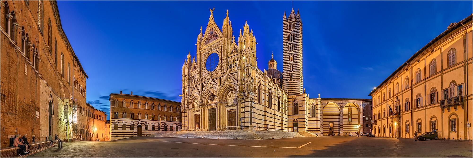 Panoramabild Kathedrale di Santa Maria Siena Toskana