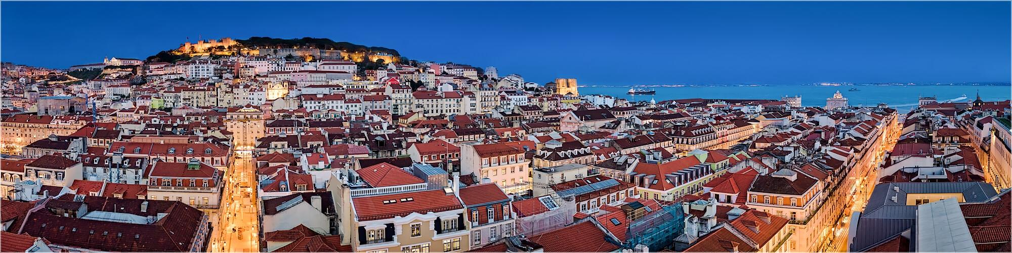 Panoramabild Skyline Lissabon Altstadt