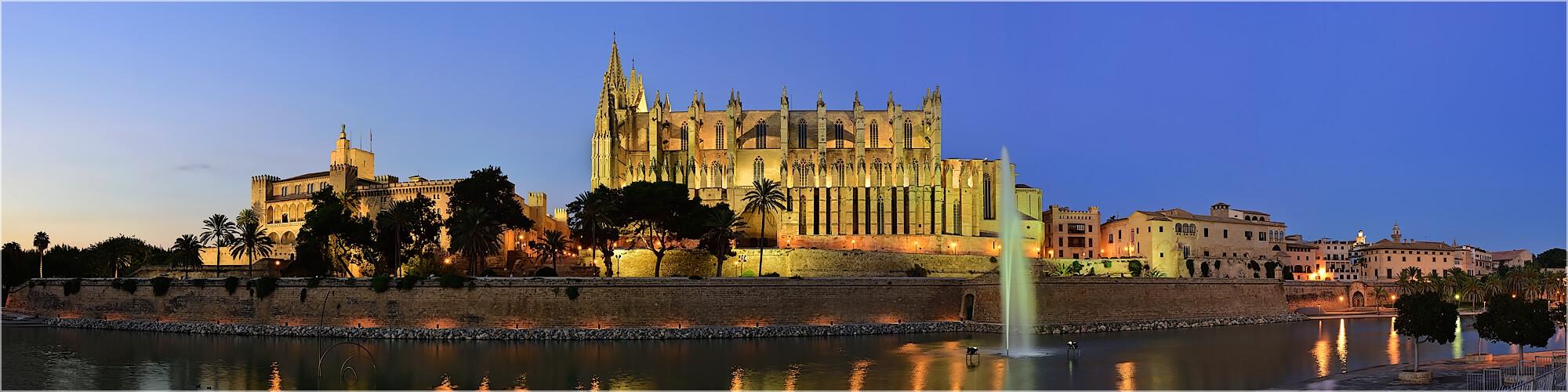 Panoramabild La Seu Kathedrale Mallorca