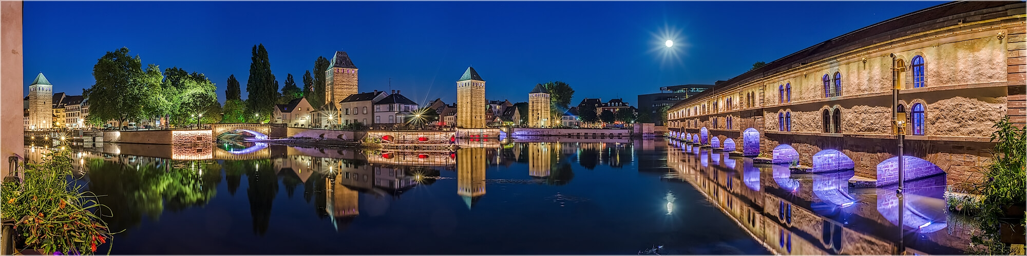 Panoramabild Straßburg Petit France Barrage Vauban