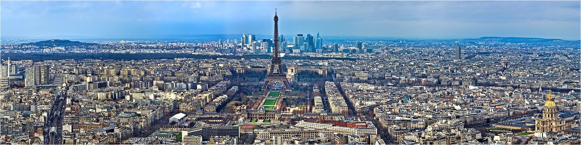 Panoramabild Marsfeld und Écol Paris Frankreich