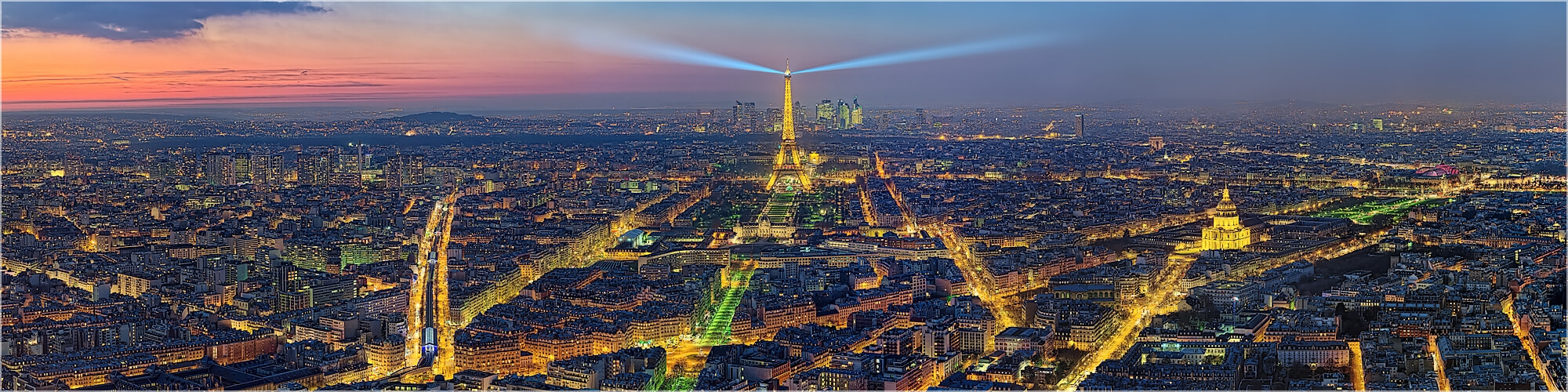 Panoramabild Skyline Paris mit Eifelturm