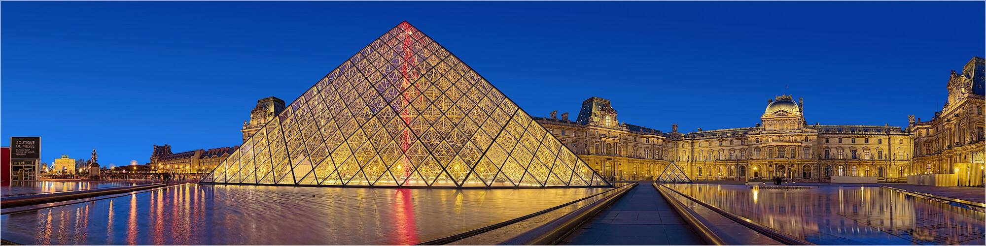 Panoramabild am Louvre Paris Frankreich