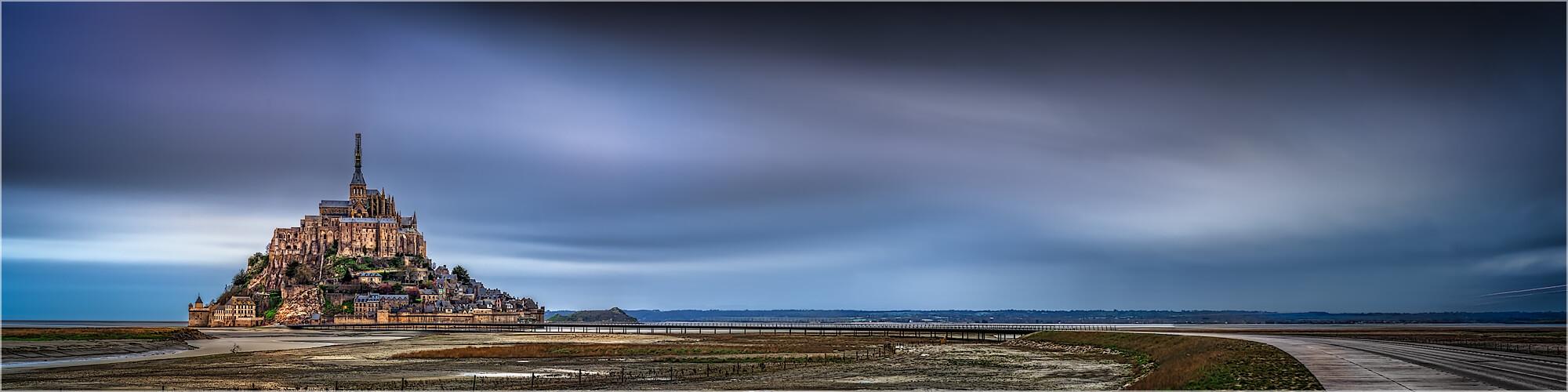 Panoramabild Mont Saint Michel Normadie Frankreich