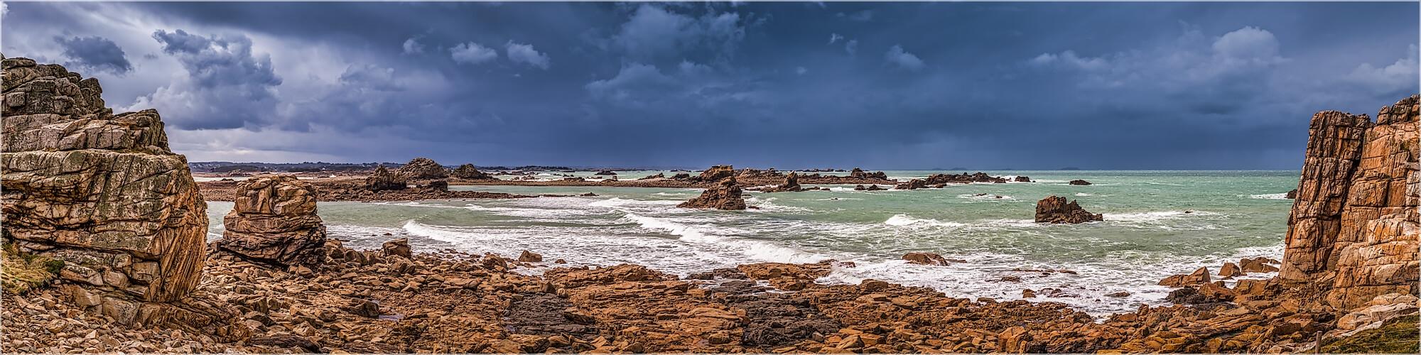 Panoramabild Bretagne die Küste Cote Granit d´ Rose