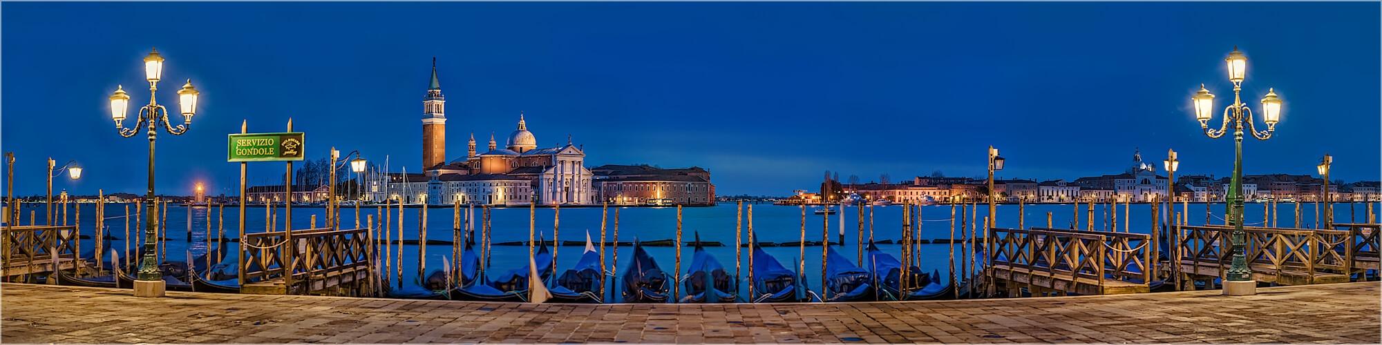 Panoramabild Venedig Blick auf San Giorgio Maggiore