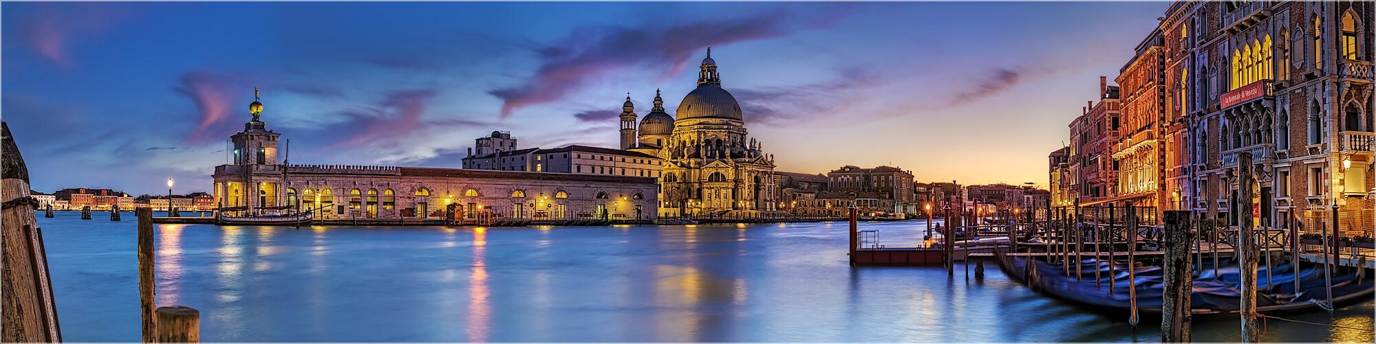 Panoramabild Santa Maria della Salute Venedig Italien