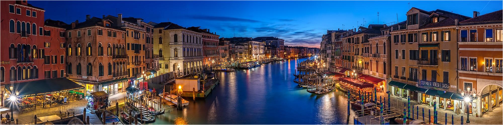 Panoramabild Canal Grande Rialto Brücke Venedig