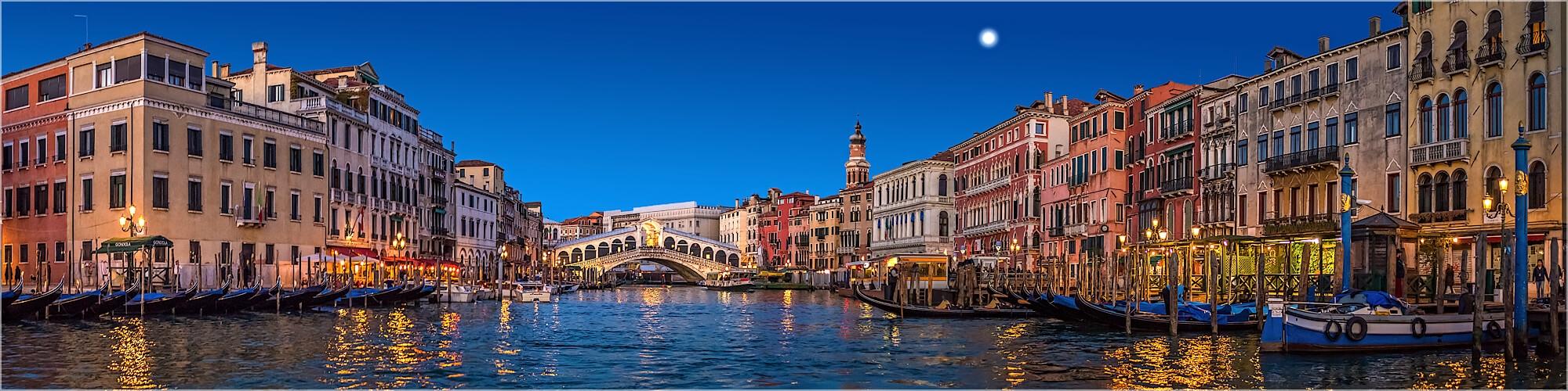 Panoramabild Venedig Italien der Canal Grande