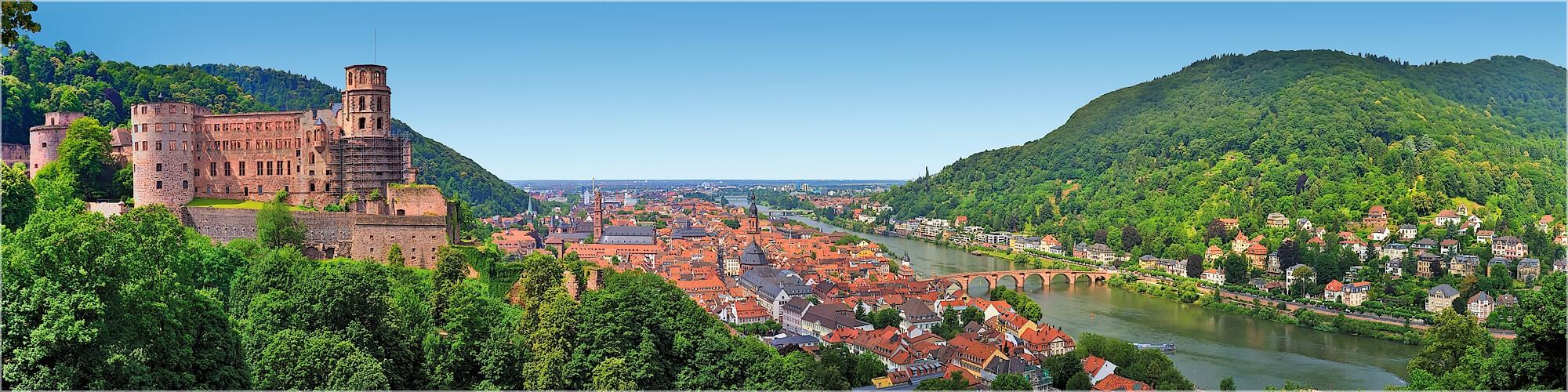 Panoramabild Heidelberg und Schloß
