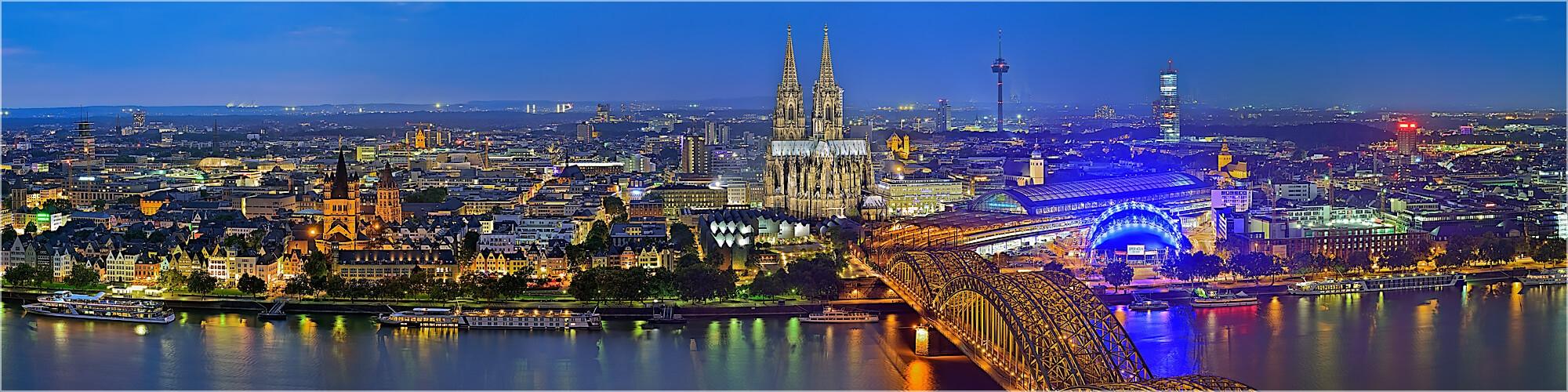 Panoramabild Skyline Köln